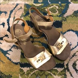 Flogg Gold High Heel Sandals